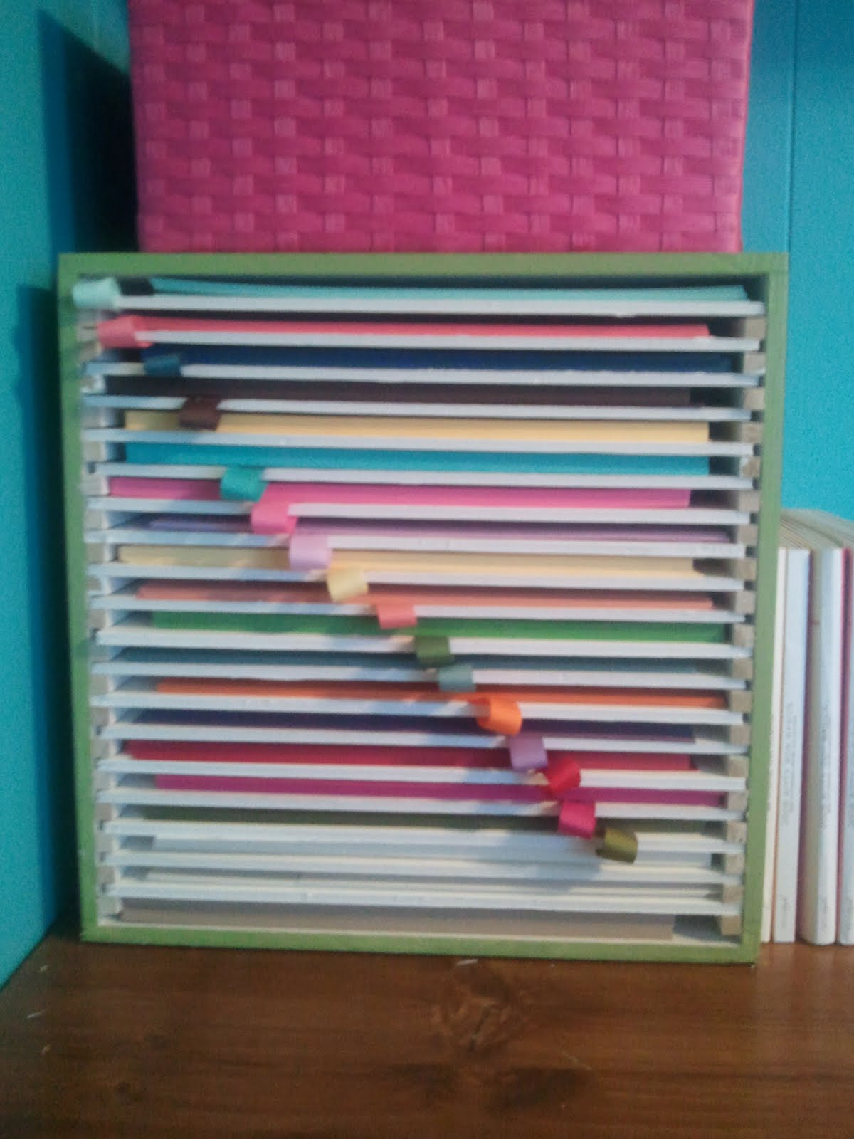 Crafty storage amy 39 s awesome paper storage idea for Craft paper storage ideas