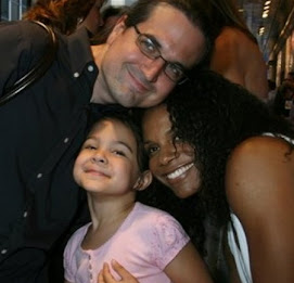 Ms Audra with her husband and little girl...