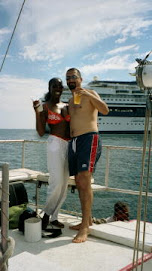 Lora and her hubby at the pier...