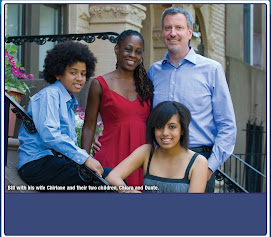 Councilman Bill de blaisio with his wife chirlane and children...