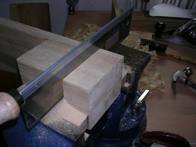 Sawing slots for the sides