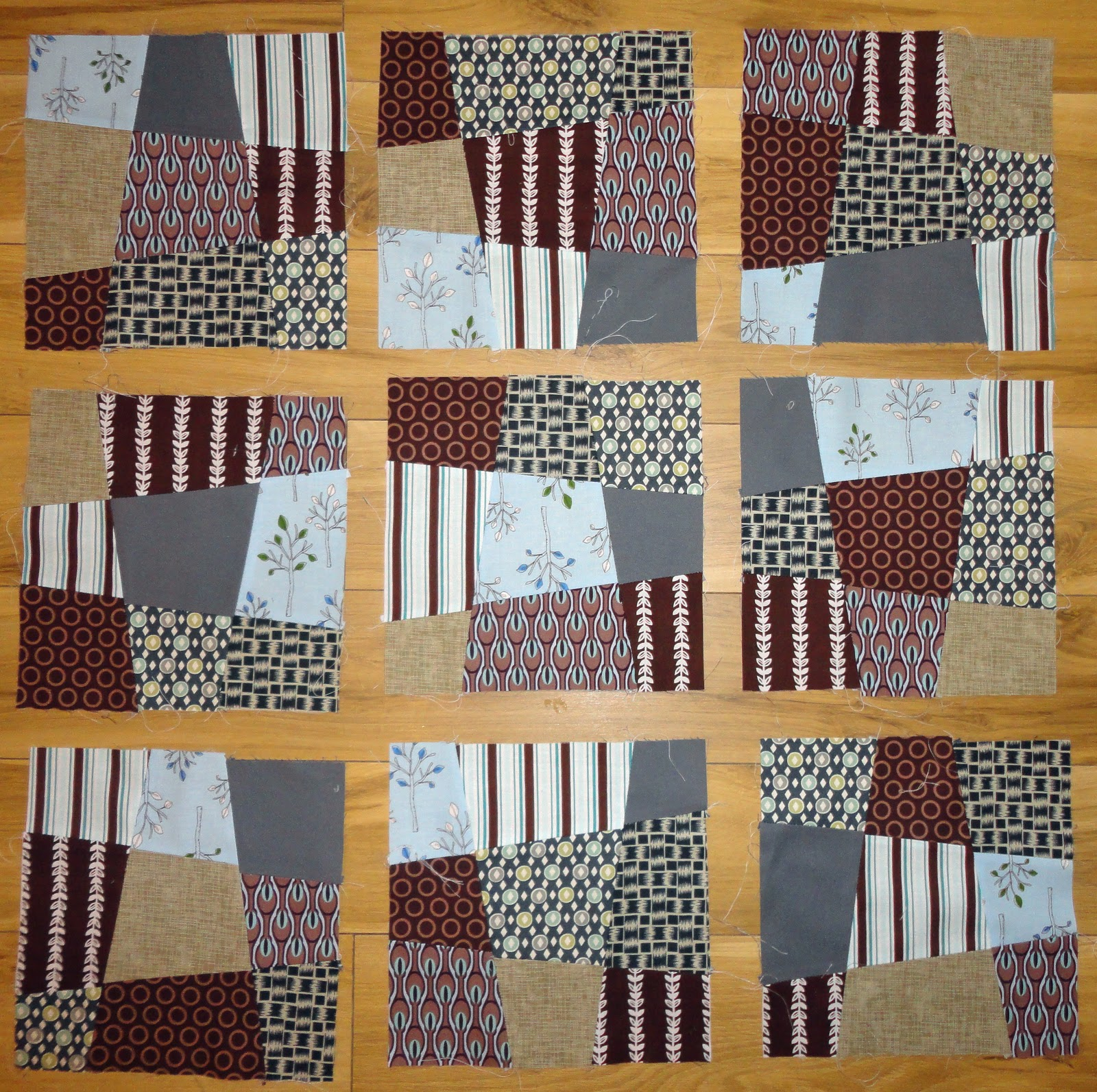 Chic Quilt Geek: Crazy Nine Patch Blocks : crazy nine patch quilt - Adamdwight.com