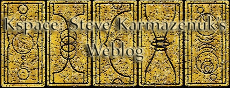 Kspace: Steve Karmazenuk's Writing Weblog
