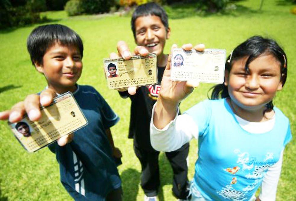 año DNI de menores será obligatorio para matrícula de escolar