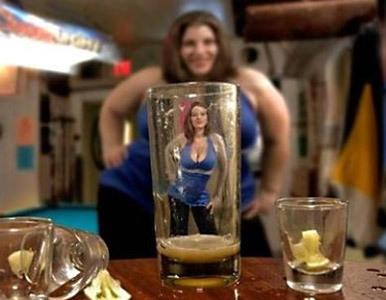 mujer mujer alcohol: