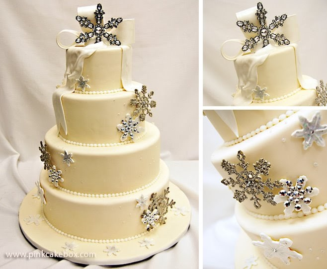 Bridal Buzz: Winter Wonderland wedding cake