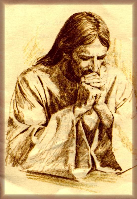 Jesus rezando
