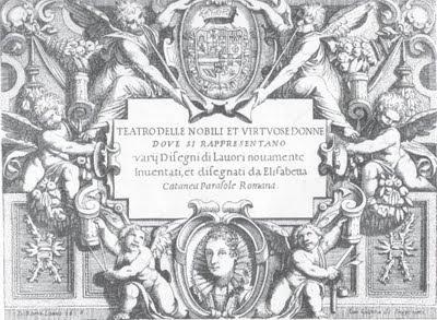 """Portada de una de las ediciones de """"Teatro delle nobili et virtuose donne"""""""