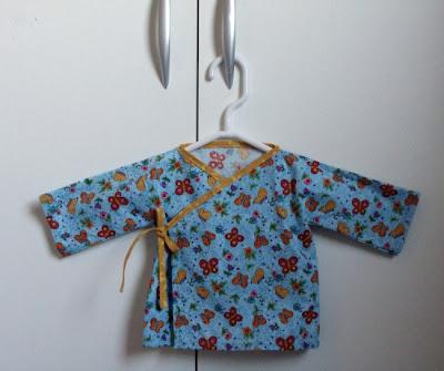 baby uitzet overslaghemdje/kimono met bias bending