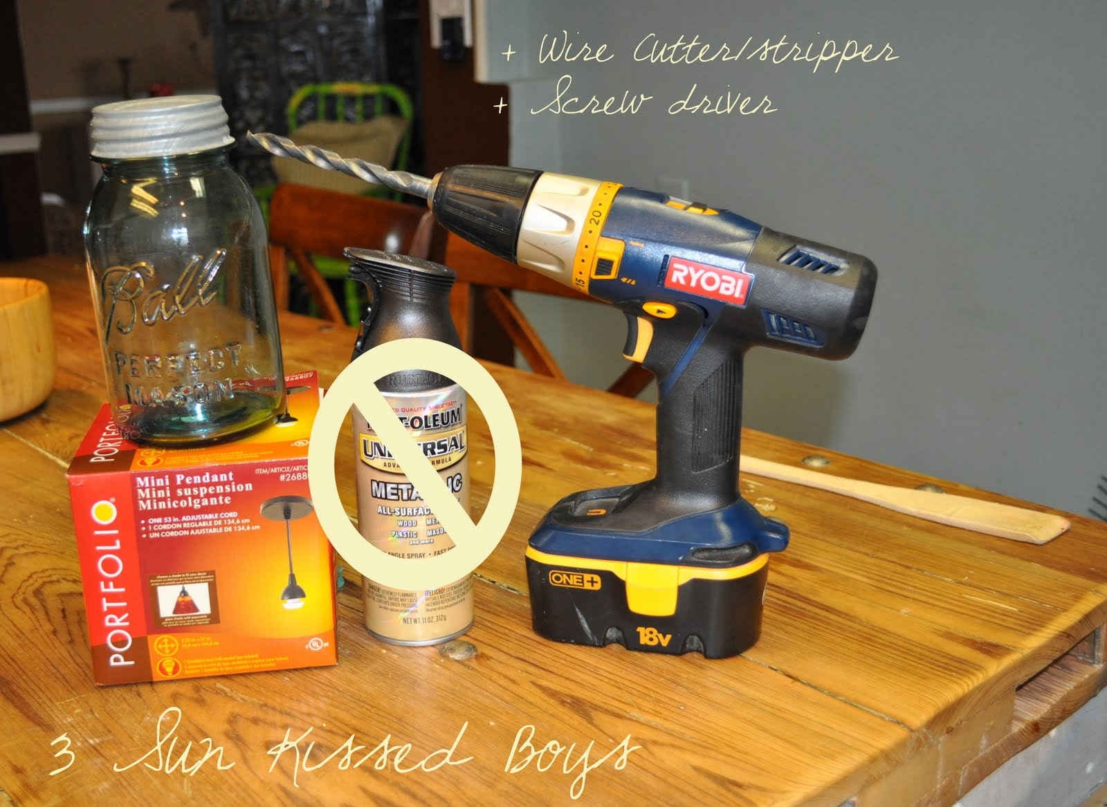 mason jar pendant light tutorial