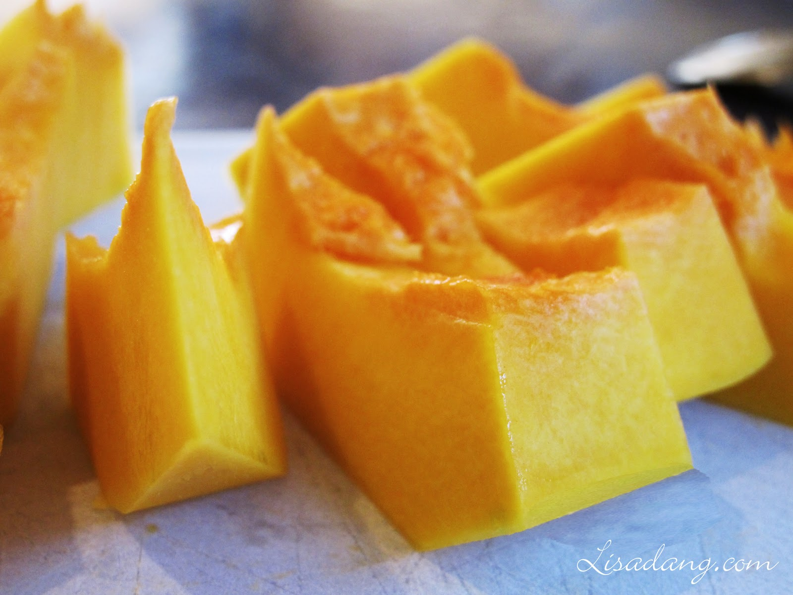 how to cut butternut squash into chips