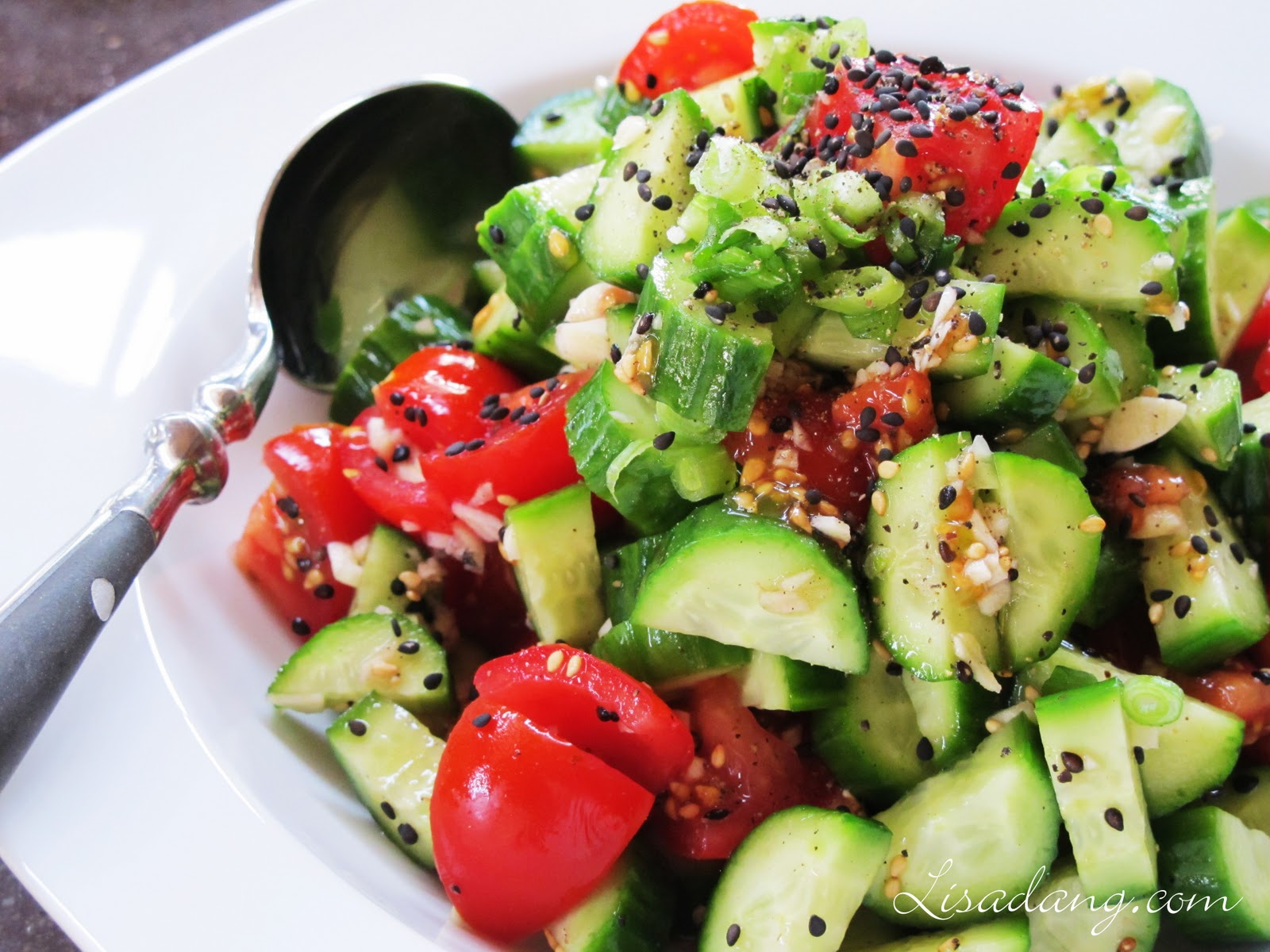 Dang It Delicious: Cucumber Tomato Salad