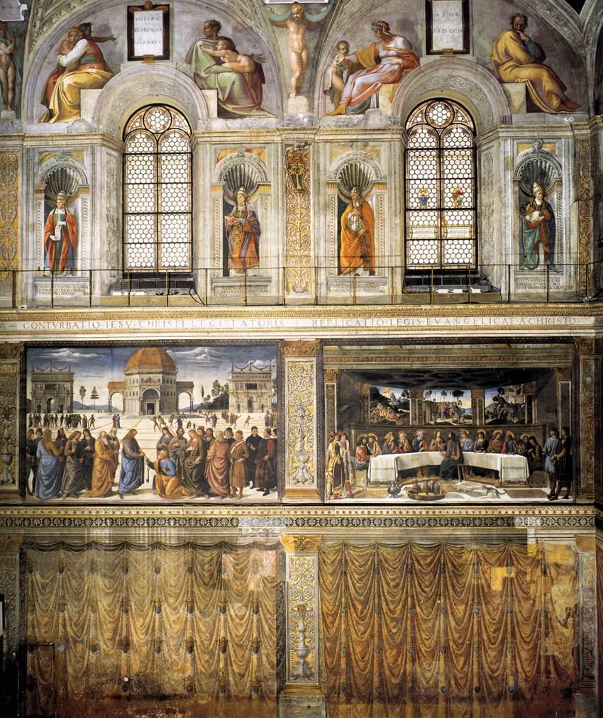 New liturgical movement raphael in the sistine chapel a for Decorazione quattrocentesca della cappella sistina