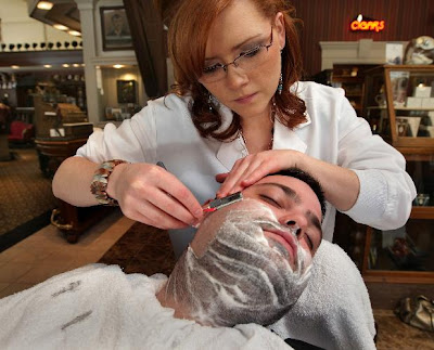 ... popularity of barber shop shaving the straight razor shave at