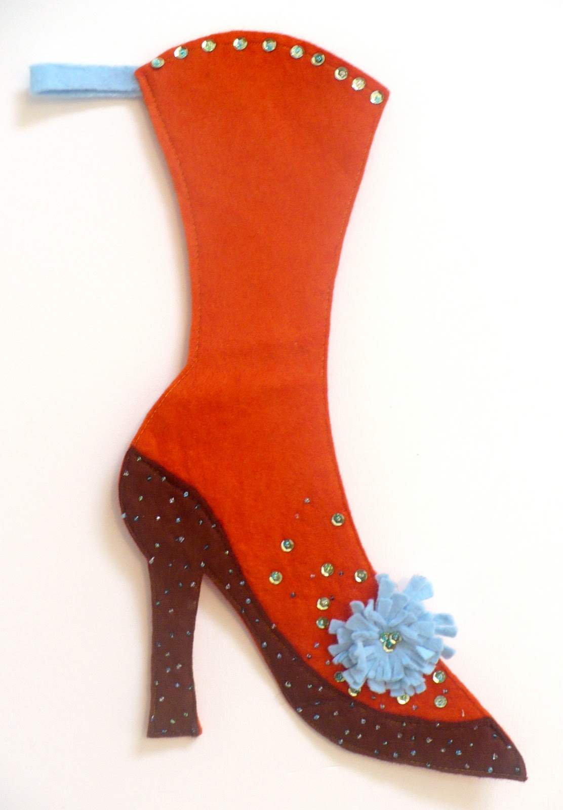 A sexy Christmas stocking to hang on your mantlepiece.