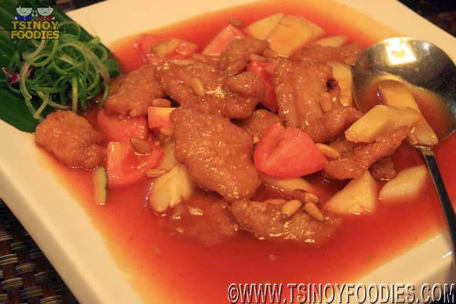 sweet and sour pork cashew