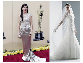 First Up Is The Marchesa Dress Worn By This Year S Best Actress In Academy Awards Sandra Bullock Top Portion Had Bead And Lace Liques That