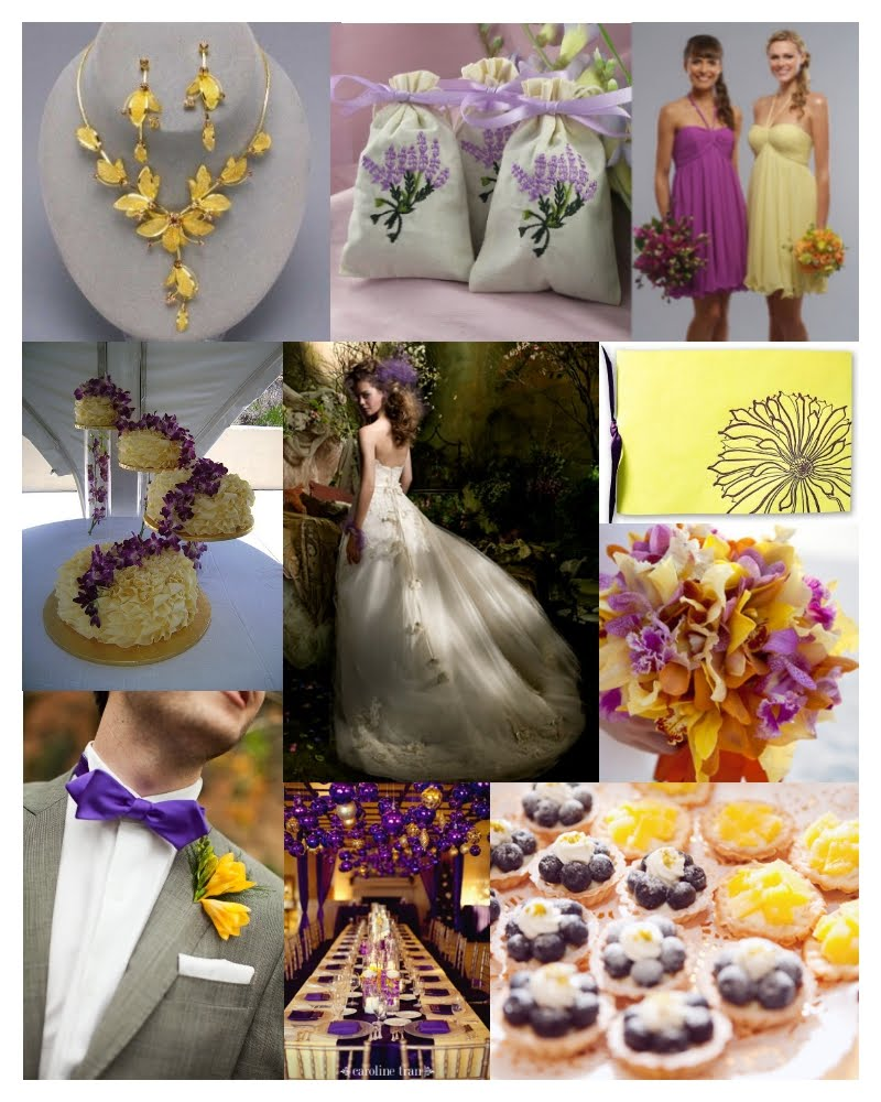 Purple Gold Wedding Decorations