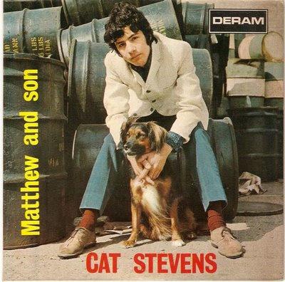 Onde o cão e o gato se encontram, capa de disco de Cat Stevens aqui no good news