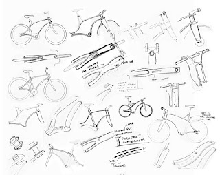 Thumbnail sketches for a bent ply bicycle frame