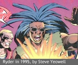 Ryder in 1995, by Steve Yeowell, from Skrull Kill Krew #1