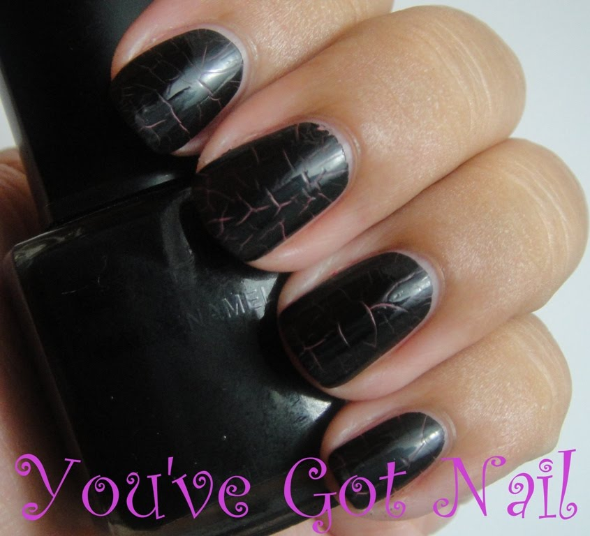 You\'ve Got Nail: BYS - Cracked Nail Polish in Pink & Black