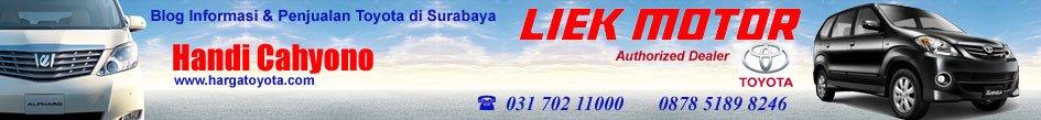 Daftar Harga Toyota Baru 1 April 2009 Surabaya