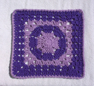 Knitting Patterns For 12 Inch Squares : Easter Day Square (12