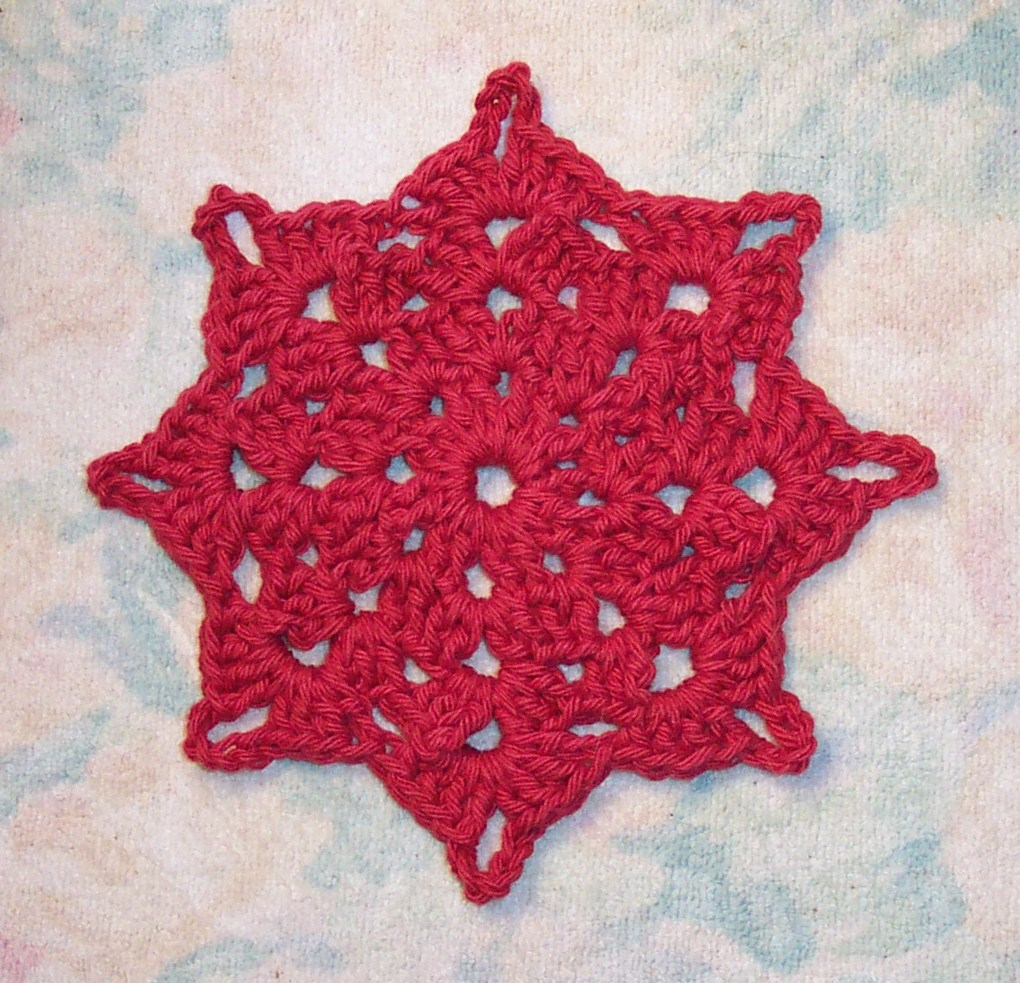 Free Crochet Star Dishcloth Pattern : SmoothFox Crochet and Knit: SmoothFoxs Holiday Star ...