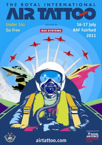 posters for next year's Royal International Air Tattoo at RAF Fairford.