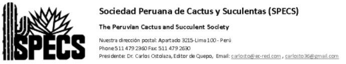 Sociedad Peruana de Cactus y Suculentas
