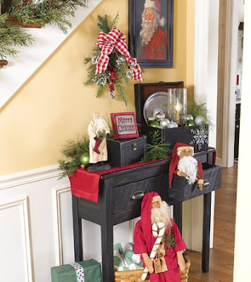 1109WDWC01 Sugestões para decoração natalina no Hall de entrada ou corredor.
