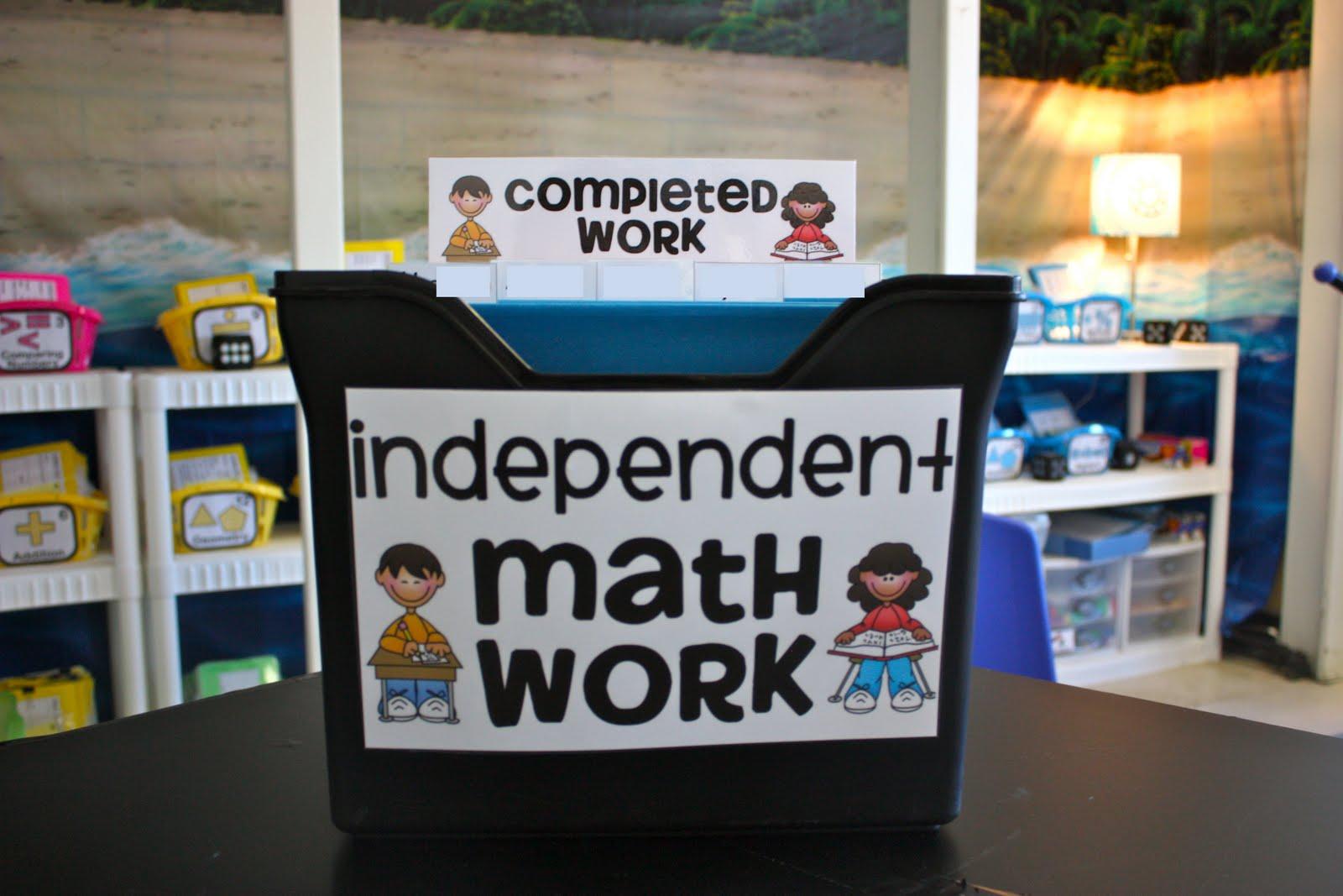 Organizing Differentiated Math Work Ladybugs Teacher Files