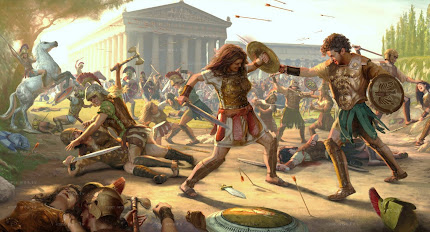 """Amazons Vs. Greeks"" Battle by David Saccheri (click pic for hi-res)"