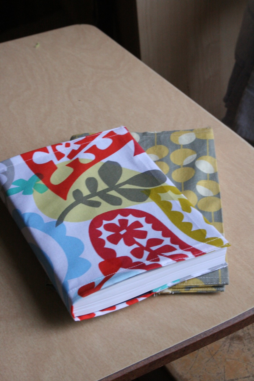 Sew A Fabric Book Cover : Emily sparks fabric cover for book or notebook