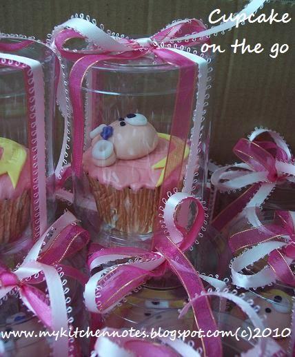My Kitchen Notes: Teddy Cupcake For Yvonne Birthday