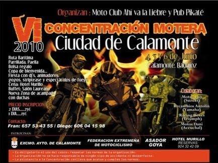CONCENTRACION MOTERA EN CALAMONTE