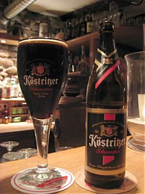 An unbroken glass of Köstritzer Schwarzbier