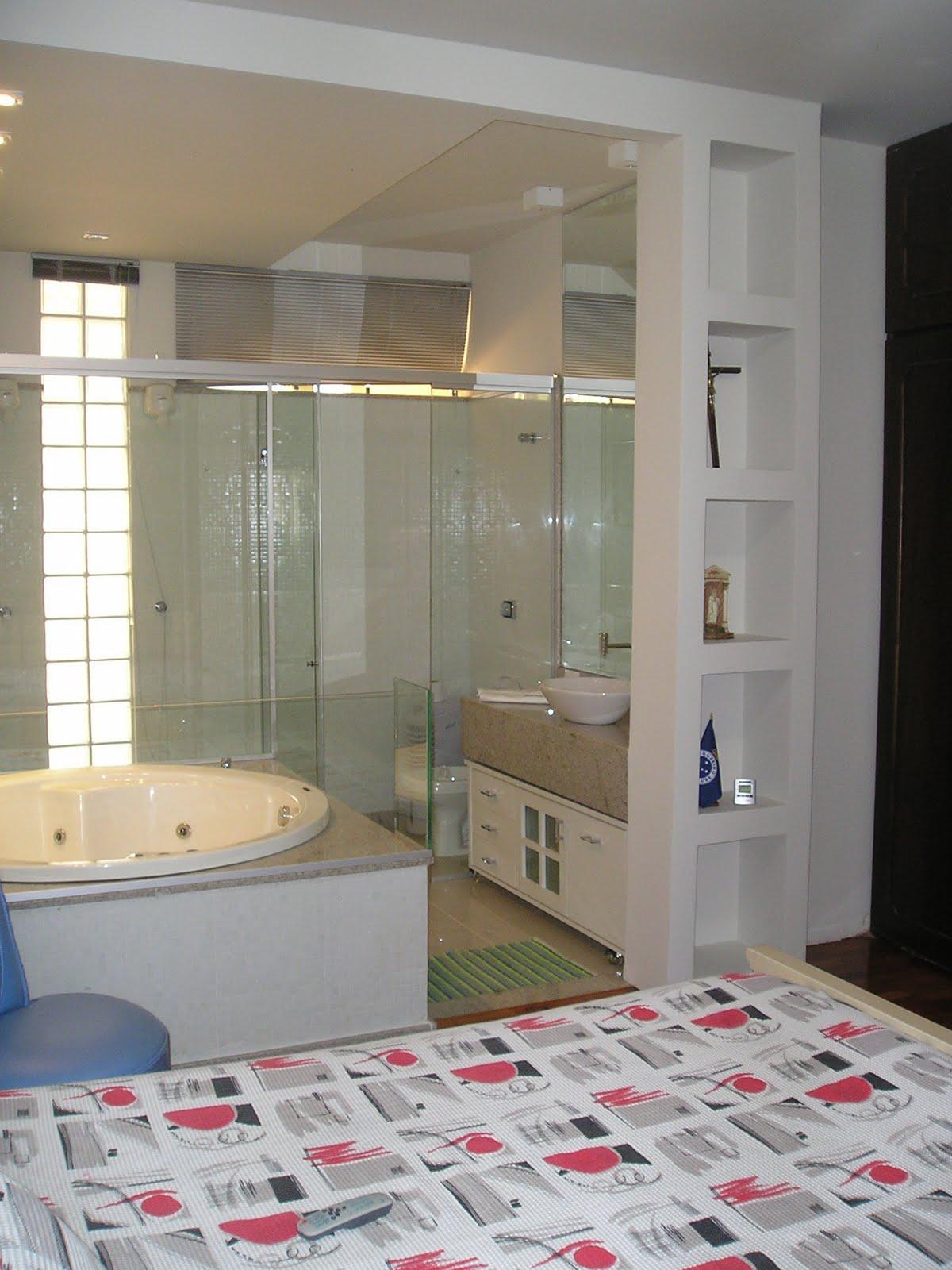 Restauro Decoração Paisagismo: Confira Projeto Banheiro Suite #93384A 1200 1600