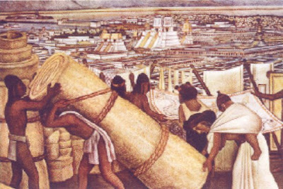 The adventures of wiley dog and sparky mexico sparky 39 s for Diego rivera tenochtitlan mural