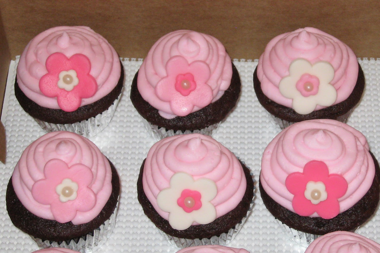 All Things Sweet Flower Cupcakes