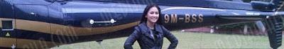 Fasha Sandha naik helikopter Jejai