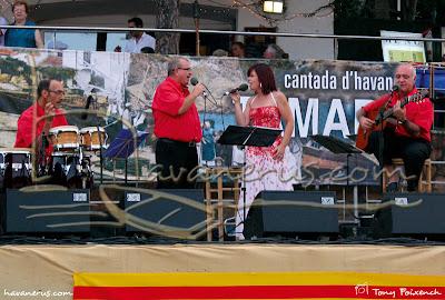 Càstor Pérez amb Cubacant a la cantada de Tamariu
