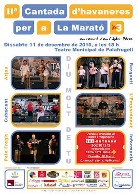 Cartell de la IIª cantada d'havaneres per a La Marató de TV3
