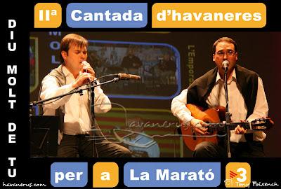 Arjau a la Cantada d'Havaneres per a La Marató