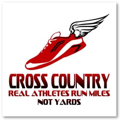 Cross country running logo