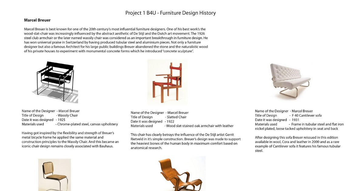 Furniture Design History nipuli liyanahewage: furniture 1b4u - furniture design history - pg 1