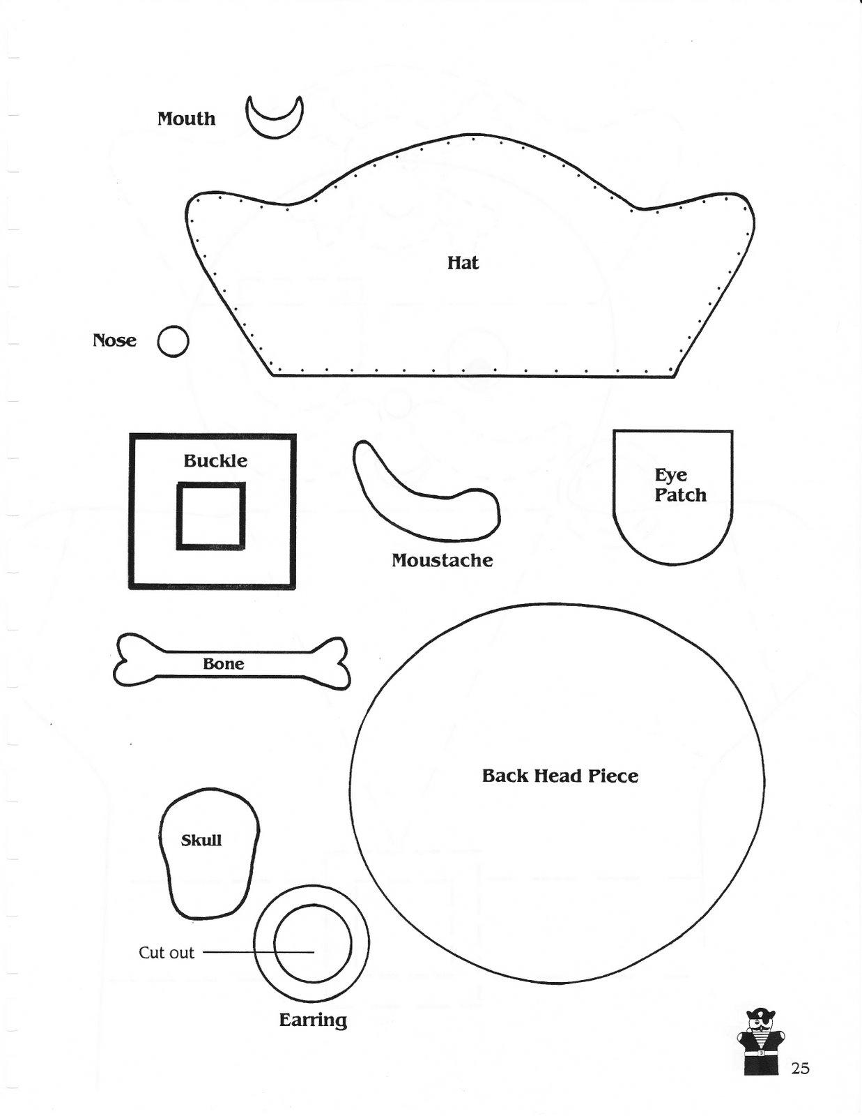 Треуголка пирата из картона своими руками