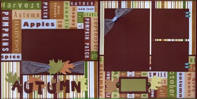 Scrapbooking for others autumn premade scrapbook layout for Premade columns