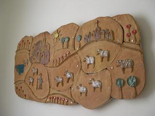 Murales de ceramica segundo mural el pastor y sus ovejas - Murales de ceramica ...